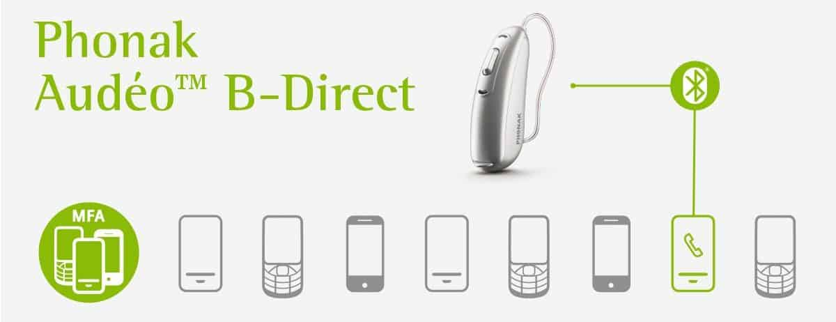 Mobile Phone compatibility with PHONAK AUDEO B Direct hearing aids