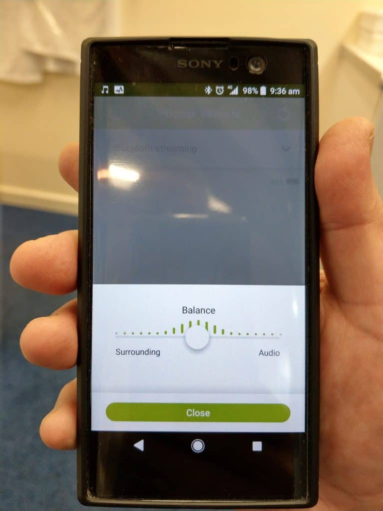 Excellent feature on PHONAK MARVEL remote control app - RJD